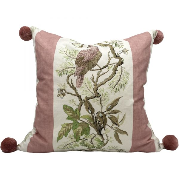 pink birds trow pillow