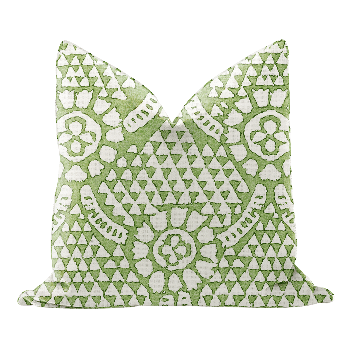 green print pillow cover